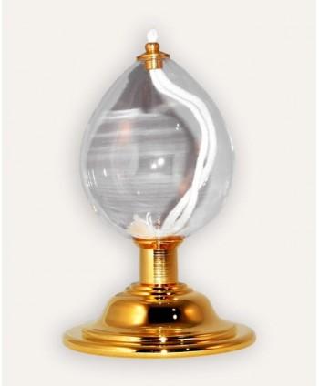 Candelă din sticlă cu baza...