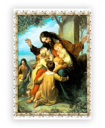 Icoană plastifiată.Isus şi...