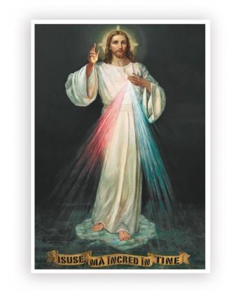 Icoană plastifiată.Isus...