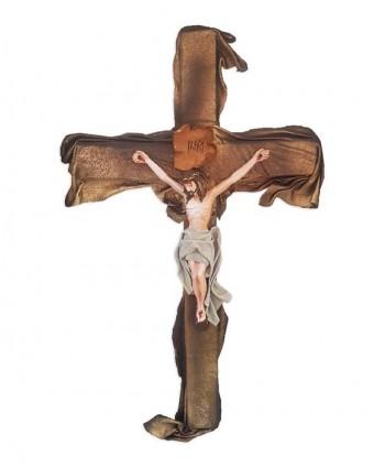 Cruce din ipsos și piele