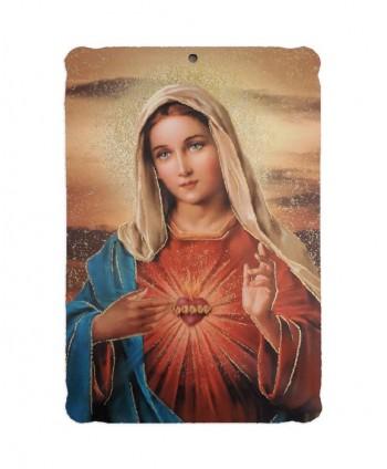 Icoană traforată Inima Mariei